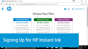 hp printers enrolling in hp instant ink hp customer support