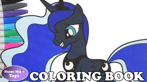 mlp princess luna coloring book pages my little pony princess luna