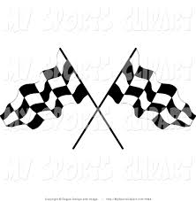 Checkered Racing Flags Sports Clip Art Of A Two Crossed Checkered Flags By Pams Clipart