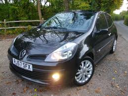 renault clio 2007 black used 2007 renault clio dynamique sx 1 2 16v turbo 3dr for sale in