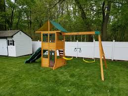 wood big backyard swing sets for children home and space decor