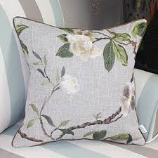 Sofa Sales Online by Flowers Embroidered Sofa Cushions Pastoral Style Linen Pillow For