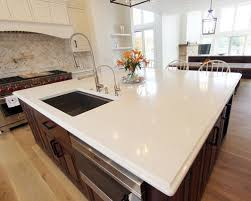 Kitchen Quartz Countertops by New Construction White Kitchen Quartz Countertop Medina Oh