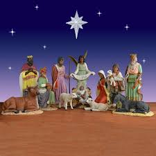Nativity Sets Outdoor Plastic Lighted 11 Piece African American Nativity Set Fiberglass