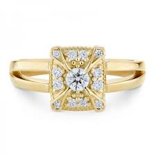 smales perfection diamond engagement ring art deco design in