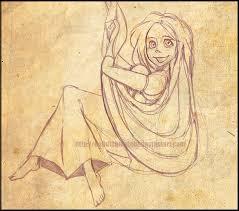 tangled rapunzel sketch do0dlebugdebz deviantart