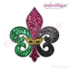 mardi gras embroidery designs by year created 2016 fleur de lis mardi gras mask applique