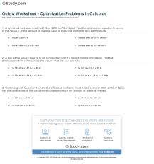 calculus optimization worksheet worksheets reviewrevitol free