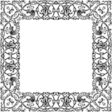 vintage decorative ornamental frame image domain vectors