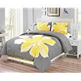 Yellow Grey And White Bedding Amazon Com Yellow Comforters U0026 Sets Bedding Home U0026 Kitchen