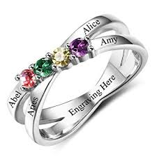 mothers rings pictures images Diamondido custom mothers rings with 4 simulated jpg