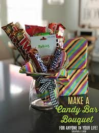 How To Make A Candy Bouquet Make A Candy Bar Bouquet Gift Tutorial The Perfect Gift For