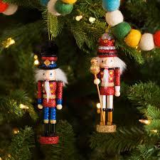 2 king and soldier nutcracker ornament set reviews allmodern