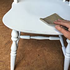 how to paint a dining set at home with the barkers