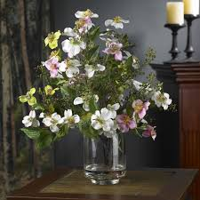 flower centerpieces silk dogwood flower centerpiece