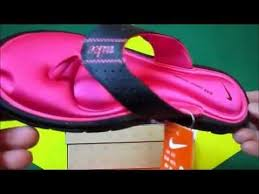 Nike Comfort Flip Flops Nike Women U0027s Comfort Thong Sandal Black White Vivid Sandália Youtube
