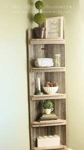 Build A Wood Shelving Unit by Not Just A Housewife House Tour Vinegar Stain Barn Wood And Vinegar