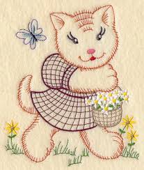 Kitchen Towel Embroidery Designs This Design Is Inspired By 1940s Vintage Embroidery Patterns