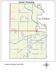 Mi County Map County Of Midland Michigan U003e Equalization U003e Tax Maps U003e Homer Township