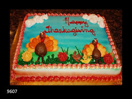 happy thanksgiving cake with turkies thanksgiving cakes