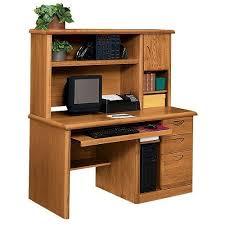 Oak Veneer Computer Desk Martin Furniture Medium Oak Computer Desk And Hutch Set By Martin