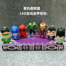 7pc lot sell new style super hero movie key chain marvel