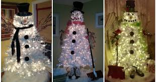 snowman tree white christmas tree snowman diy cozy home