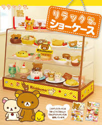 last set rilakkuma rement display showcase rilakkuma cake shop