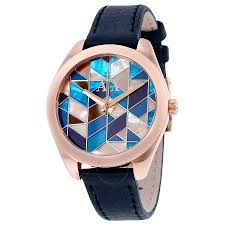 armani exchange multi colored mosaic dial ladies watch ax5525