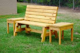 Plans To Build A Picnic Table And Benches by How To Build A Comfortable 2 4 Bench And Side Table Jays Custom