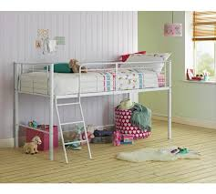 Buy HOME Lucas Mid Sleeper Bed Frame White At Argoscouk Your - Mid sleeper bunk bed