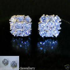 mens earrings uk white gold filled earrings studs for men ebay