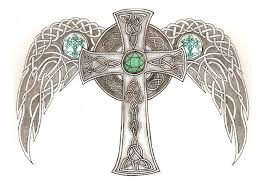 celtic cross drawings celtic cross with wings by aegisshadow