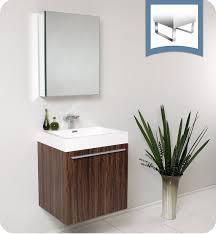 Modern Bathroom Medicine Cabinet Fresca Fvn8058gw Alto 23 Walnut Modern Bathroom Vanity With
