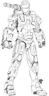trio robots coloring page boys pages of printable of war machine