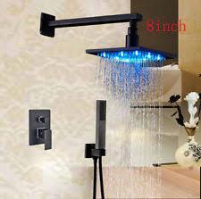 Rozin Led Light Spray Kitchen by Rain Shower Set Faucets Ebay