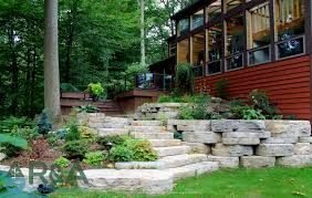 eau claire outdoor living backyard renovation of deck retaining