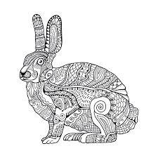 vintage rabbit zentangle stylized rabbit vintage doodle vector