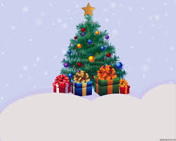 free happy new year christmas tree backgrounds for powerpoint