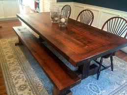 custom hemlock farmhouse dining room table by authentic antique