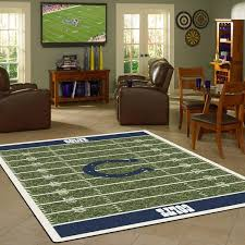 Area Rugs Indianapolis Indianapolis Colts Nfl Football Field Rug Fan Rugs