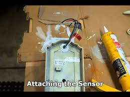 add motion sensor to outdoor light add universal motion detector to outdoor sconce youtube