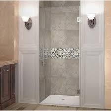 vigo soho 24 in to 24 5 in x 70 625 in frameless pivot shower