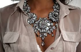 silver fashion statement necklace images Jewels necklace clothes accessory shirt beautiful diamonds jpg