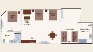 cabin floorplan grand kidcabin suite new accessible suite greatwolf
