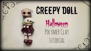scary halloween figures creepy doll halloween polymer clay tutorial youtube