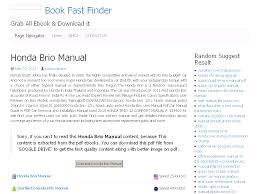 18 honda brio manual