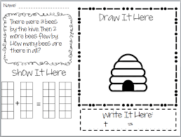 kindergarten picture word math worksheets easter birthday cakes