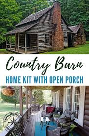 country barn home kit with open porch shtf preparedness