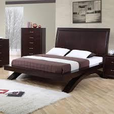 Flat Platform Bed Bedroom Wood Platform Frame Modern Contemporary Bed Low Wooden